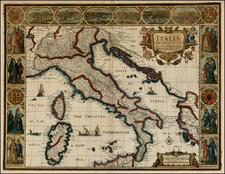 Balkans, Italy, Mediterranean and Balearic Islands Map By John Speed
