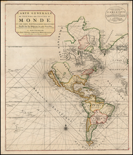 Western Hemisphere, South America, New Zealand and America Map By Johannes Covens  &  Cornelis Mortier