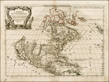 North America and California Map By Giacomo Giovanni Rossi