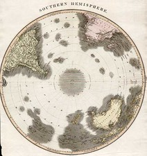 World, Southern Hemisphere, Polar Maps, Australia & Oceania, Australia and Oceania Map By John Thomson
