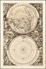 World, World and Polar Maps Map By Pieter van der Aa