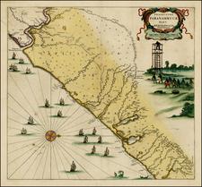 Brazil Map By Covens & Mortier / Gaspar Barleus