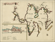 Brazil Map By Willem Janszoon Blaeu / Covens & Mortier