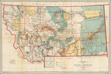 Plains, Rocky Mountains and Montana Map By U.S. General Land Office