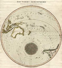 World, Southern Hemisphere, Polar Maps, Australia & Oceania, Oceania and Hawaii Map By John Thomson