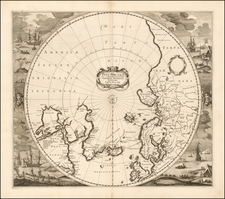 Polar Maps Map By Henricus Hondius