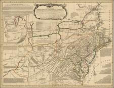 United States, New England, Mid-Atlantic and Midwest Map By Lewis Evans
