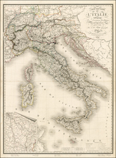 Italy Map By Adrien-Hubert Brué