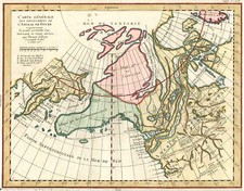 Alaska, Russia in Asia and Canada Map By Denis Diderot / Gilles Robert de Vaugondy