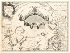 Polar Maps, Canada, Russia and Scandinavia Map By Vincenzo Maria Coronelli