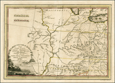 South, Southeast and Midwest Map By Giovanni Maria Cassini