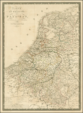 Netherlands Map By Adrien-Hubert Brué