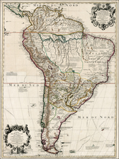South America Map By Guillaume De L'Isle