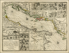 Balkans and Italy Map By Jan Jansson / Willem Barentsz