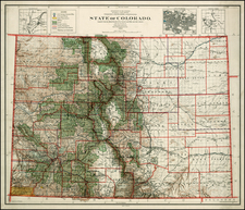 Rocky Mountains Map By General Land Office