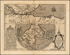 Southern Hemisphere, Polar Maps and South America Map By Matthias Quad / Johann Bussemachaer