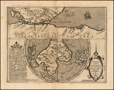 Southern Hemisphere, Polar Maps and South America Map By Matthias Quad / Johann Bussemachaer