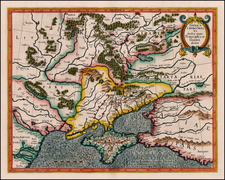 Russia, Ukraine and Russia in Asia Map By  Gerard Mercator