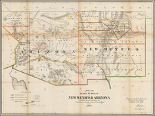 Arizona and New Mexico Map By U.S. General Land Office