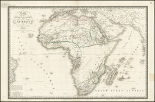 Africa and Africa Map By Adrien-Hubert Brué