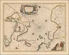 Polar Maps, Canada and Iceland Map By Johannes Blaeu