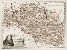 Poland, Ukraine and Baltic Countries Map By Franz Johann Joseph von Reilly