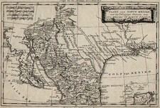 Texas, Southwest, Mexico and Baja California Map By Willem Albert Bachienne