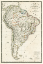 South America Map By Adrien-Hubert Brué