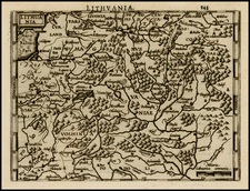 Poland and Baltic Countries Map By Henricus Hondius - Michael Mercator