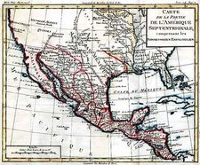 Southwest, Mexico and California Map By Louis Brion de la Tour