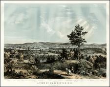 New Hampshire Map By John B. Bachelder