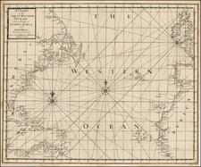 Atlantic Ocean, South, Southeast, Mexico, Caribbean and Central America Map By John Senex / Edmund Halley / Nathaniel Cutler / Samuel Parker
