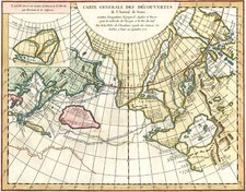 Alaska, Asia, Russia in Asia and Canada Map By Denis Diderot / Didier Robert de Vaugondy