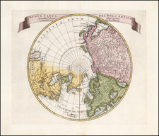 Northern Hemisphere and Polar Maps Map By Isaak Tirion