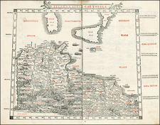 Mediterranean, Balearic Islands and North Africa Map By Bernardus Sylvanus