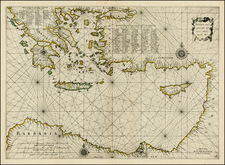 Greece, Turkey, Balearic Islands and Turkey & Asia Minor Map By Jan Jansson / Willem Barentsz