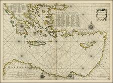 Turkey, Turkey & Asia Minor, Balearic Islands and Greece Map By Jan Jansson / Willem Barentsz