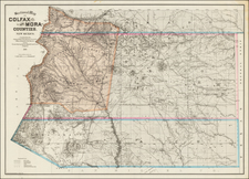 Southwest and New Mexico Map By Edward Rollandet
