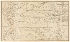 Plains, Southwest and Rocky Mountains Map By Julius Bien