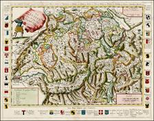 Switzerland Map By Pierre Du Val