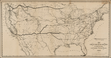 United States Map By American Photo-Lithographic Company