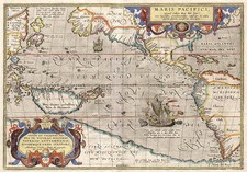 World, Polar Maps, South America and America Map By Abraham Ortelius