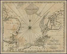 British Isles, Netherlands and Belgium Map By Malham