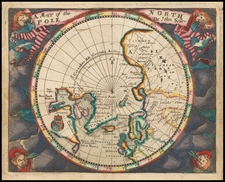 Northern Hemisphere and Polar Maps Map By John Seller