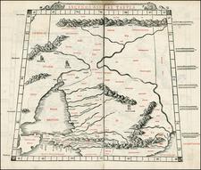 Russia, Central Asia & Caucasus and Russia in Asia Map By Bernardus Sylvanus