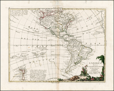 South America, Oceania, New Zealand and America Map By Antonio Zatta