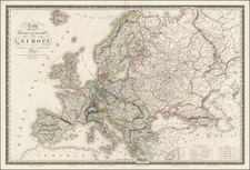 Europe and Europe Map By Adrien-Hubert Brué