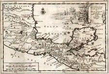 Mexico and Central America Map By Pieter van der Aa