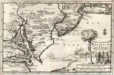 Mid-Atlantic and Southeast Map By Pieter van der Aa