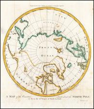 Polar Maps, Alaska and Canada Map By Matthew Carey